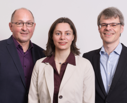 Dr. Alfred Hansel, Dr. Martina Schmitz, Dr. Peter Haug (v.l.)