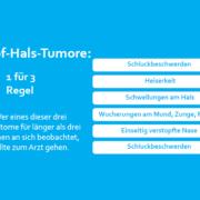Kopf-Hals-Tumor 1 für 3 Regel