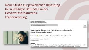 Präsentation_PK zur Studie zur psychischen Belastung bei Auffälligkeiten in der Gebärmutterhalskrebsvorsorge